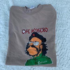 Vintage Simpsons art t shirt Bolivia